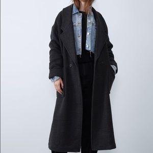 NWT Zara oversized maxi coat gray medium